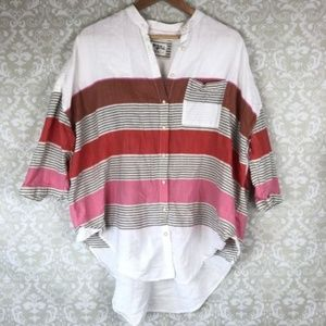 Anthro Holding Horses Striped Monroe Button Down